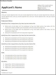 Resume Template: Blank Resume Template Free Resume Examples ... ... Resume Template, Blank Resume Template Sample Free Download With Objective And Employment History: Blank ...