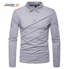 <b>Covrlge</b> New Brand Polos Business Black and White Stitching Solid ...