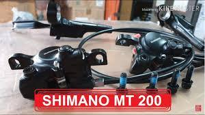 BRAKE SET <b>SHIMANO MT200</b> SIAP PAKAI - YouTube
