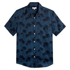 """Рубашка <b>прямая</b> из льна с принтом """"пальмы"""" синий <b>La Redoute</b> ..."""