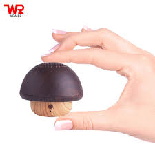 WPAIER <b>Wood Texture</b> wireless Bluetooth Speaker <b>mini</b> Mushroom ...