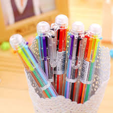 6pcs New Study Pen Ballpoint Pen Stationery Multi <b>Color Hot 6</b> ...