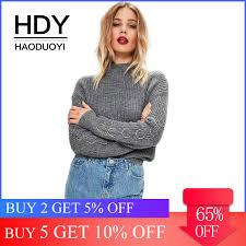 <b>HDY Haoduoyi 2019</b> Fashion Sweater Women Casual Solid Beige ...