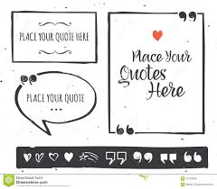 quotes templates hand drawn black and white set stock vector quotes templates hand drawn black and white set