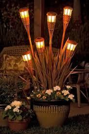 outdoor lighting ideas for patios diy rattan tiki torch outdoor patio lights superb diy outdoor garden candle lighting ideas