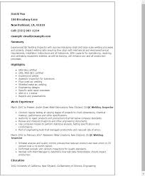 professional qc welding inspector templates to showcase your    resume templates  qc welding inspector