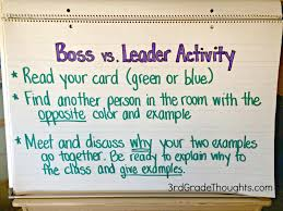 bosses vs leaders lesson bies rd grade thoughts bosses vs leaders lesson bies