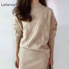 <b>Lafarvie High Quality</b> Cashmere Blended Knitted Sweater Women ...