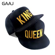 <b>Hot Sale KING QUEEN</b> Embroidery Snapback Hat Acrylic Men ...
