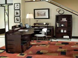 wonderful home office decor furnished with unique office desk and giant sized table lamp office decoration design home