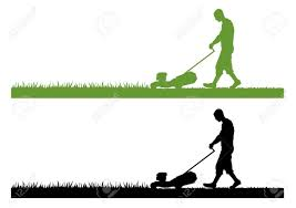 lawn care vector info lawn mower mowing
