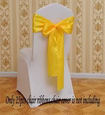 Fvstar 25pcs Chair Ribbons Bows Satin Wedding ... - Amazon.com