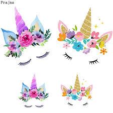 Prajna <b>Unicorn Iron On</b> Transfers Kids Cartoon Girl Patch Heat ...