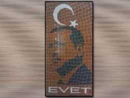 50 bin bardakla Erdoğan'ın silüetini yaptılar