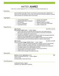 resume examples  resume templates teachers format objective    resume examples  mateo juarez resume templates teachers summary highlights experience education certification street address email