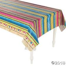 Serape Plastic Table Cover Fiesta <b>Mexican</b> Cinco De Mayo <b>Mexican</b> ...