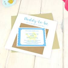 personalised daddy to be babysitting coupon card by chi chi moi daddy to be blue babysitting coupon chi chi moi