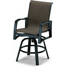 bar height patio chair: sling patio counter height swivel bar arm chair ultimate patio