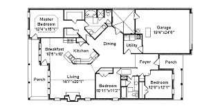 Amberdale Lake Narrow Lot Home Plan D    House Plans and MoreRanch House Plan First Floor   D    House Plans and More