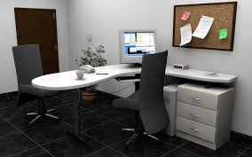 awesome small home office interior design calling attention unique white l shaped slightly arch floating desk awesome corner office desk remarkable