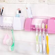 For 2/3/4People Multifunction Toothbrush Holder <b>Wall Mounted</b> ...