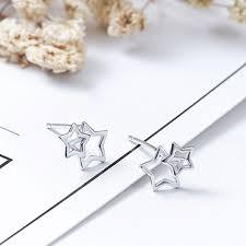 Little <b>Cute</b> Stars <b>925 Sterling Silver</b> Stud Earrings