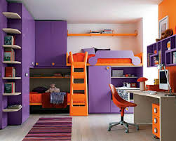 bedroom ideas for teenage girls purple and orange cheerful home teen bedroom