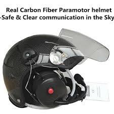 carbon fiber <b>paramotor</b> helmet with <b>noise canceling</b> headset ...