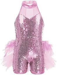 iEFiEL Kids <b>Girls</b> Sequins Hip-Hop Jazz Ballet Latin <b>Dance Dress</b>
