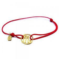 <b>Браслет Скорпион</b> на красной нити из позолоченного серебра ...