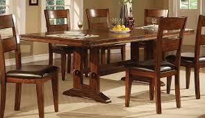 modern wood dining room sets: lavista dining table in dark oak coaster american style furniture