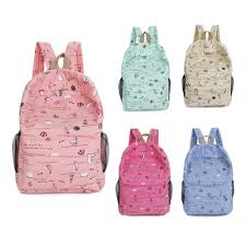 READY STOCK Korean Light Weight Casual <b>Backpack Girl</b> Canvas ...