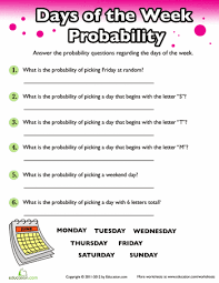 4th Grade Probability Worksheets & Free Printables | Education.comFourth Grade Probability Worksheets and Printables