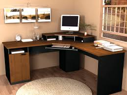 l black and brown pine wood corner home office desk which furnished with storage cabinet base 930x698 awesome corner office desk