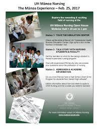 manoa experience nursing university of hawai i at manoa the nursing manoa experience event flyer