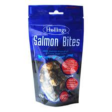 Hollings <b>Salmon Bites</b> 75gm > Purely <b>Pet</b> Supplies Ltd