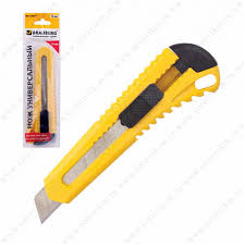 <b>Нож универсальный BRAUBERG</b>, 18мм, с фиксатором, цвет ...
