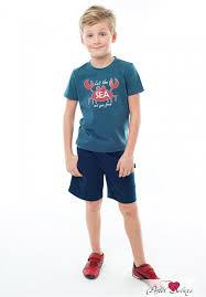 <b>Шорты</b> sea цвет: синий (9-10 лет) от <b>juno</b> хлопковая ткань (смесь ...