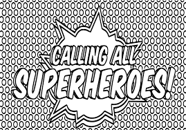 Small Picture Superheroes Super Hero Popart Text Coloring Page Wecoloringpage