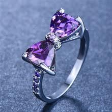 Женское Кристальное пурпурное Каменное <b>Кольцо Boho</b>, милое ...