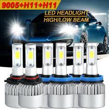 <b>H11 Combo</b> 5000W 750000LM LED Headlight Kit Light Bulb 6000K ...