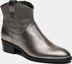 <b>Ботинки</b> женские <b>EVELYN</b> (цвет серебряный, натуральная кожа ...