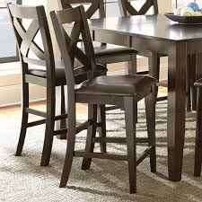 steve silver crosspointe counter height dining chair set of 2 dark espresso cherry cbe heated cooled chair