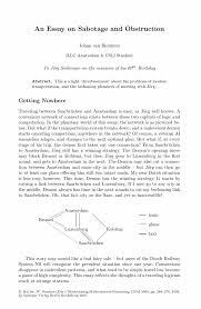 an essay on sabotage and obstruction springer inside