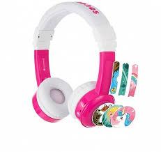 Наушники <b>BuddyPhones InFlight</b> детские с микрофоном розовые ...