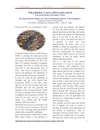 academic paper pdf soil pollution causes effects and control