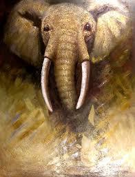 Original <b>Handmade Animals</b> Oil <b>Painting</b> Africa Elephant Art <b>Wall</b> ...
