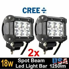 Automotive 2X 6inch <b>18W 6LED Work</b> Light Bar Flood Beam Offroad ...