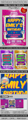 birthday party invitation flyer psd template facebook cover birthday party invitation flyer psd template facebook cover