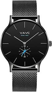 VAVC Men's Black Fashion Casual Simple Analog ... - Amazon.com